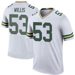 Gerald Willis III Green Bay Packers Men's Color Rush Legend Nike Jersey - White