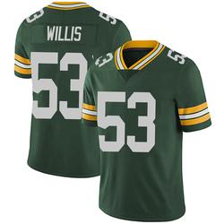 Gerald Willis III Green Bay Packers Men's Limited Team Color Vapor Untouchable Nike Jersey - Green
