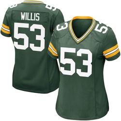 Gerald Willis III Green Bay Packers Women's Game Team Color Nike Jersey - Green