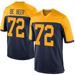 Gerhard de Beer Green Bay Packers Men's Game Alternate Nike Jersey - Navy