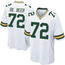 Gerhard de Beer Green Bay Packers Men's Game Nike Jersey - White