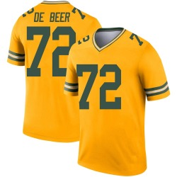 Gerhard de Beer Green Bay Packers Men's Legend Inverted Jersey - Gold