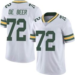 Gerhard de Beer Green Bay Packers Men's Limited Vapor Untouchable Nike Jersey - White