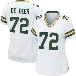 Gerhard de Beer Green Bay Packers Women's Game Nike Jersey - White