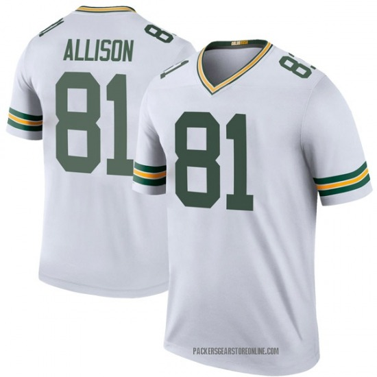 Geronimo Allison Green Bay Packers Men's Color Rush Legend Nike Jersey - White