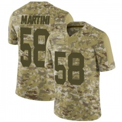 Greer Martini Green Bay Packers Men's Limited 2018 Salute to Service Nike Jersey - Camo