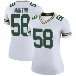 Greer Martini Green Bay Packers Women's Color Rush Legend Nike Jersey - White