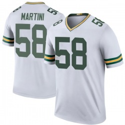 Greer Martini Green Bay Packers Youth Color Rush Legend Nike Jersey - White
