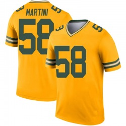 Greer Martini Green Bay Packers Youth Legend Inverted Nike Jersey - Gold