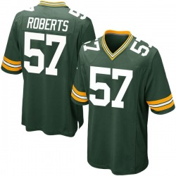 Greg Roberts Green Bay Packers Men's Game Team Color Nike Jersey - Green