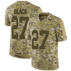 Henry Black Green Bay Packers Men's Limited Camo 2018 Salute to Service Nike Jersey - Black