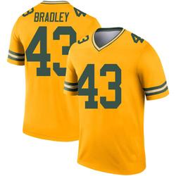 Hunter Bradley Green Bay Packers Men's Legend Inverted Nike Jersey - Gold