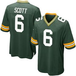JK Scott Green Bay Packers Men's Game Team Color Nike Jersey - Green