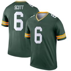 JK Scott Green Bay Packers Men's Legend Nike Jersey - Green
