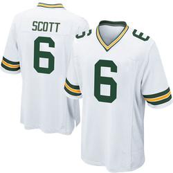 JK Scott Green Bay Packers Youth Game Nike Jersey - White