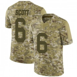 JK Scott Green Bay Packers Youth Limited 2018 Salute to Service Nike Jersey - Camo