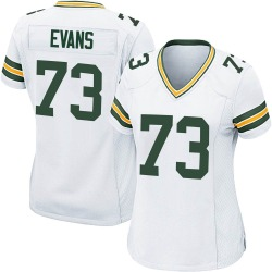 Jahri Evans Green Bay Packers Women's Game Nike Jersey - White