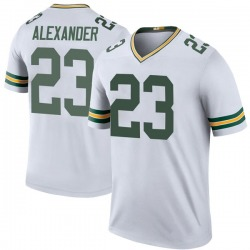 Jaire Alexander Green Bay Packers Men's Color Rush Legend Nike Jersey - White