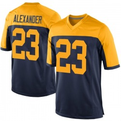 Jaire Alexander Green Bay Packers Youth Game Alternate Nike Jersey - Navy