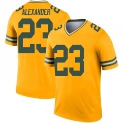 Jaire Alexander Green Bay Packers Youth Legend Inverted Nike Jersey - Gold