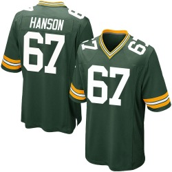 Jake Hanson Green Bay Packers Men's Game Team Color Nike Jersey - Green