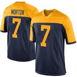 Jalen Morton Green Bay Packers Men's Game Alternate Nike Jersey - Navy