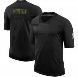 Jalen Morton Green Bay Packers Men's Limited 2020 Salute To Service Nike Jersey - Black
