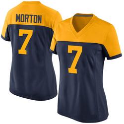Jalen Morton Green Bay Packers Women's Game Alternate Nike Jersey - Navy