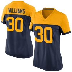 Jamaal Williams Green Bay Packers Women's Game Alternate Nike Jersey - Navy