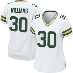 Jamaal Williams Green Bay Packers Women's Game Nike Jersey - White