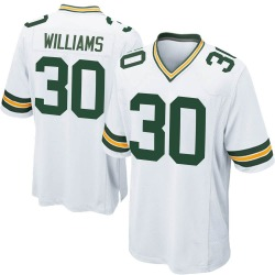 Jamaal Williams Green Bay Packers Youth Game Nike Jersey - White