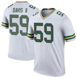 Jamal Davis II Green Bay Packers Men's Color Rush Legend Nike Jersey - White