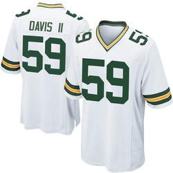 Jamal Davis II Green Bay Packers Men's Game Nike Jersey - White