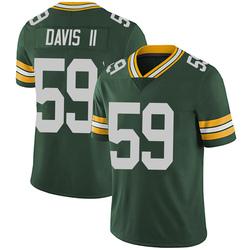 Jamal Davis II Green Bay Packers Men's Limited Team Color Vapor Untouchable Nike Jersey - Green