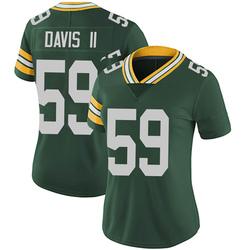 Jamal Davis II Green Bay Packers Women's Limited Team Color Vapor Untouchable Nike Jersey - Green