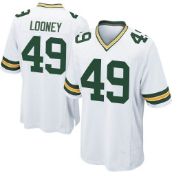 James Looney Green Bay Packers Youth Game Nike Jersey - White