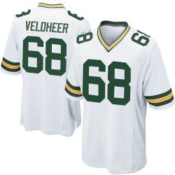 Jared Veldheer Green Bay Packers Men's Game Nike Jersey - White