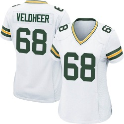 Jared Veldheer Green Bay Packers Women's Game Nike Jersey - White