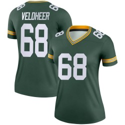 Jared Veldheer Green Bay Packers Women's Legend Nike Jersey - Green