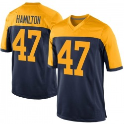 Javien Hamilton Green Bay Packers Men's Game Alternate Nike Jersey - Navy