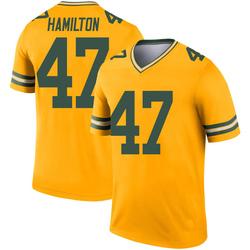 Javien Hamilton Green Bay Packers Men's Legend Inverted Nike Jersey - Gold