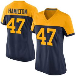 Javien Hamilton Green Bay Packers Women's Game Alternate Nike Jersey - Navy