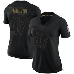 Javien Hamilton Green Bay Packers Women's Limited 2020 Salute To Service Nike Jersey - Black