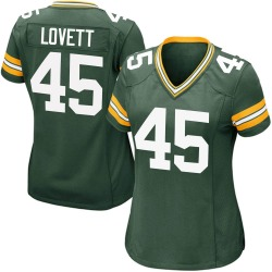 John Lovett Green Bay Packers Women's Game Team Color Nike Jersey - Green