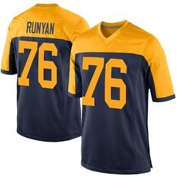 Jon Runyan Green Bay Packers Men's Game Alternate Nike Jersey - Navy