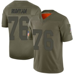 Jon Runyan Green Bay Packers Men's Limited 2019 Salute to Service Jersey...