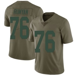 Jon Runyan Green Bay Packers Men's Limited Salute to Service Nike Jersey - Green