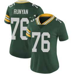 Jon Runyan Green Bay Packers Women's Limited Team Color Vapor Untouchable Nike Jersey - Green