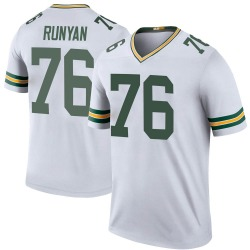 Jon Runyan Green Bay Packers Youth Color Rush Legend Nike Jersey - White