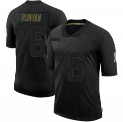 Jon Runyan Green Bay Packers Youth Limited 2020 Salute To Service Nike Jersey - Black